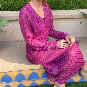 Emanuel Ungaro Paris Purple  Wrap Dress - Medium